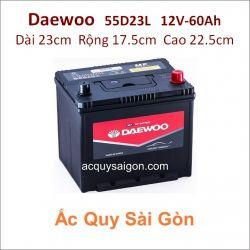 Ắc quy Daewoo 12V 60Ah 55D23L (NS70L)