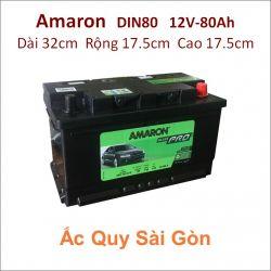 Ắc quy Amaron 12V 80Ah Din80 (580122073)