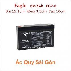 Ắc quy công nghiệp Eagle 6V 7Ah EG7-6