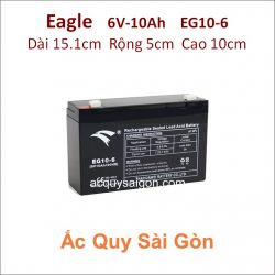 Ắc quy công nghiệp Eagle 6V-10Ah EG10-6