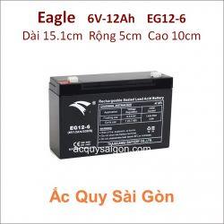 Ắc quy công nghiệp Eagle 6V-12Ah EG12-6