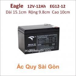 Ắc quy công nghiệp Eagle-12V-12Ah EG12-12