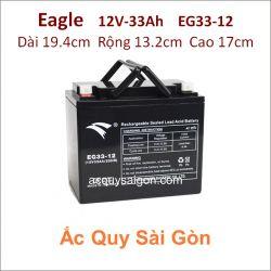 Ắc quy công nghiệp Eagle-12V-33Ah EG33-12