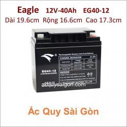 Ắc quy công nghiệp Eagle-12V-40Ah EG40-12