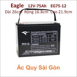 Ắc quy công nghiệp Eagle-12V-75Ah EG75-12