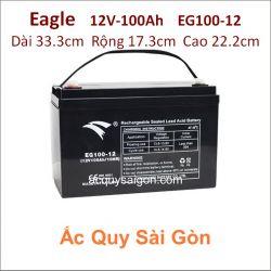 Ắc quy công nghiệp Eagle-12V/100Ah EG100-12