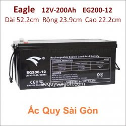 Ắc quy công nghiệp Eagle-12V/200Ah EG200-12