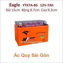 Ắc quy xe máy gel Eagle 12V 7Ah YTX7A-BS