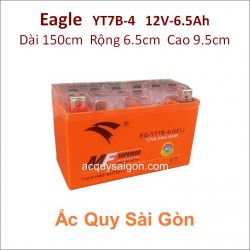 Ắc quy xe mô tô gel Eagle 12V 6.5Ah YT7B-4