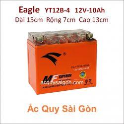 Ắc quy xe mô tô gel Eagle 12V-10Ah YT12B-4