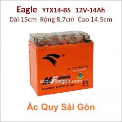 Ắc quy xe mô tô gel Eagle 12V-14Ah YTX14-BS