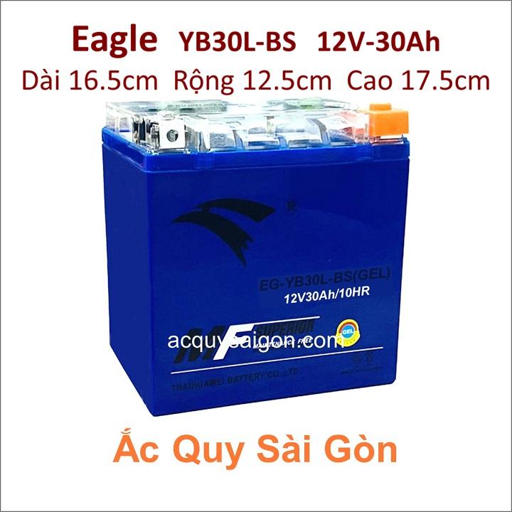 Ắc quy xe mô tô gel Eagle 12V-30Ah YB30L-BS