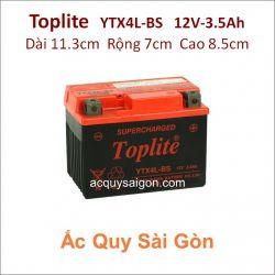 Ắc quy Yuasa Toplite 12V 3.5Ah YTX4L-BS Supercharged