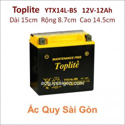 Ắc quy Yuasa Toplite 12V-12Ah YTX14L-BS (Cao cấp)