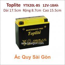 Ắc quy Yuasa Toplite 12V-18Ah YTX20L-BS (Cao cấp)