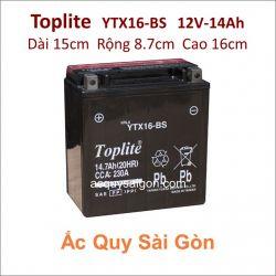 Ắc quy Yuasa Toplite 12V-14Ah YTX16-BS (Cao cấp)