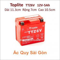 Ắc quy Yuasa Toplite 12V 5Ah TTZ6V (Cao cấp)