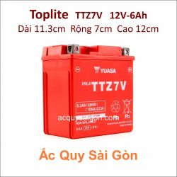 Ắc quy Yuasa Toplite 12V 6Ah TTZ7V (Cao cấp)