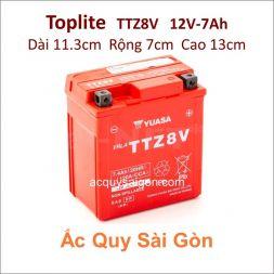 Ắc quy Yuasa Toplite 12V 7Ah TTZ8V (Cao cấp)