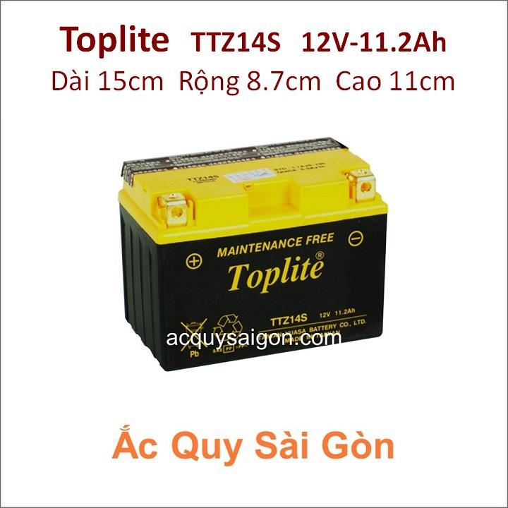 Ắc quy Yuasa Toplite 12V-11.2Ah TTZ14S (Cao cấp)