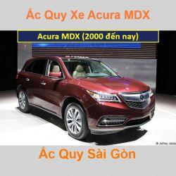 Bình ắc quy xe ô tô Acura Cross MDX (2000 đến nay)