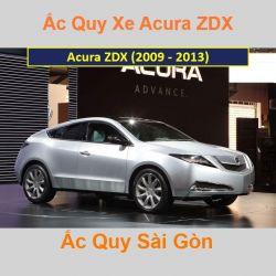 Bình ắc quy xe ô tô Acura Cross ZDX (2009 - 2013)