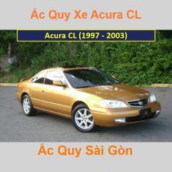 Bình ắc quy xe ô tô Acura Coupe CL (1997 - 2003)