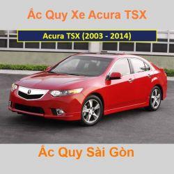 Bình ắc quy xe ô tô Acura Sedan TSX (2003 - 2014)