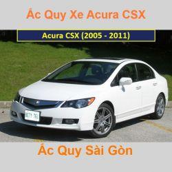 Bình ắc quy xe ô tô Acura Sedan CSX (2005 - 2011)