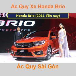 Bình ắc quy xe ô tô Honda Brio (2011 đến nay)