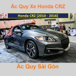Bình ắc quy xe ô tô Honda CRZ (2010 - 2016)