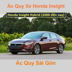 Bình ắc quy xe ô tô Honda Insight (2000 đến nay)