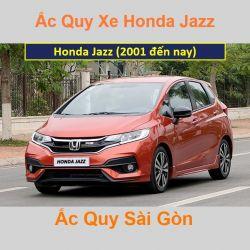 Bình ắc quy xe ô tô Honda Jazz (2001 đến nay)