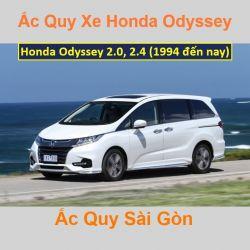 Bình ắc quy xe ô tô Honda Odyssey 2.0, 2.4 (1994 đến nay)