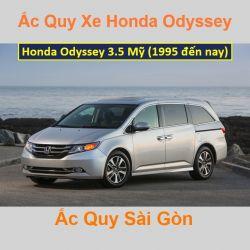 Bình ắc quy xe ô tô Honda Odyssey Mỹ 3.5 (1995 đến nay)
