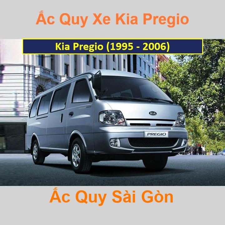Bình ắc quy xe ô tô Kia Pregio (1995 - 2006)
