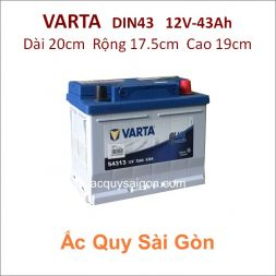 Ắc quy Varta 12V 43Ah Din43 (54313)