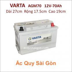 Ắc quy Varta 12V 70Ah AGM70 (570901076)