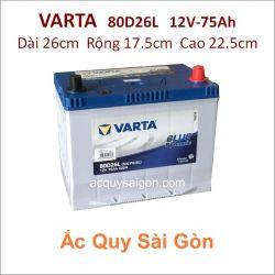 Ắc quy Varta 12V 75Ah 80D26L (NX110-5L)