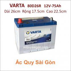 Ắc quy Varta 12V 75Ah 80D26R (NX110-5R)