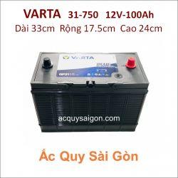 Ắc quy Varta 12V/100Ah 31-750 Cọc chì