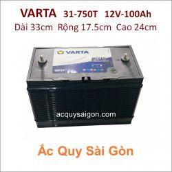 Ắc quy Varta 12V/100Ah 31-750T Cọc bulon