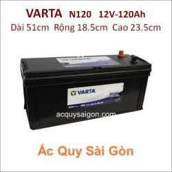 Ắc quy Varta 12V/120Ah 150F51R (N120)