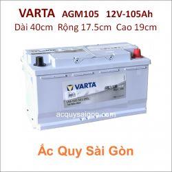Ắc quy Varta 12V-105Ah AGM105 (605901095)