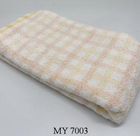 Khăn Tắm Kẻ Cotton Mỹ - Vàng caro (70x140 - 350gr)