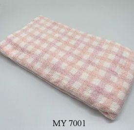 Khăn Tắm Kẻ Cotton Mỹ - Hồng caro (70x140 - 350gr)