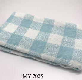Khăn Tắm Kẻ Cotton Mỹ - Xanh caro to (70x140 - 350gr)