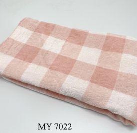 Khăn Tắm Kẻ Cotton Mỹ - Hồng caro to (70x140 - 350gr)