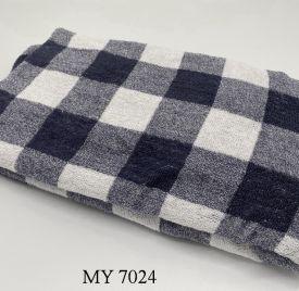 Khăn Tắm Kẻ Cotton Mỹ - Đen caro to (70x140 - 350gr)