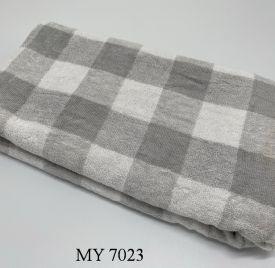 Khăn Tắm Kẻ Cotton Mỹ - Ghi caro to (70x140 - 350gr)